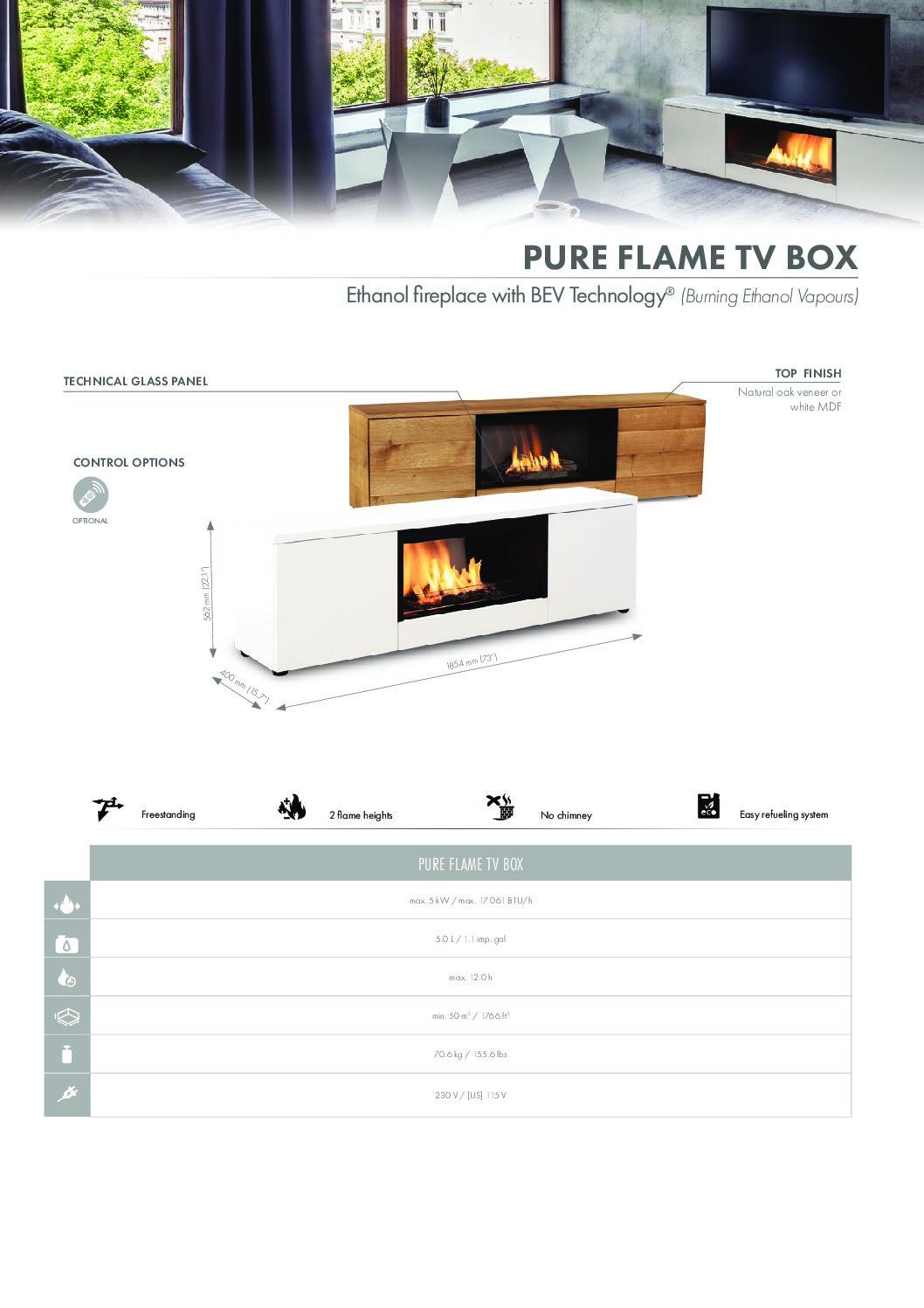 Cheminée bio-éthanol Pure Flame TV Box